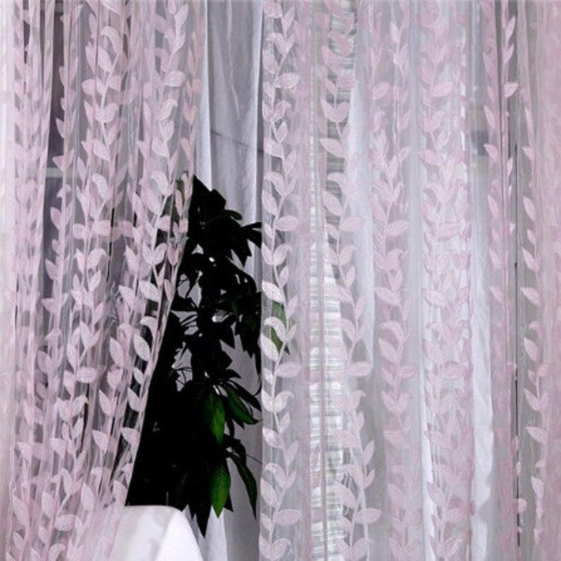1m X 2m Valances Window Sheer Voile Scarf Printed Drape Panel