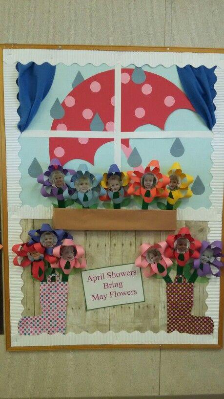 April bulletin board learning for kids pinterest for Idea door activity days