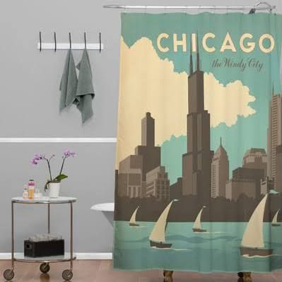 Deny Designs Anderson Design Group Woven Polyester Chicago Shower