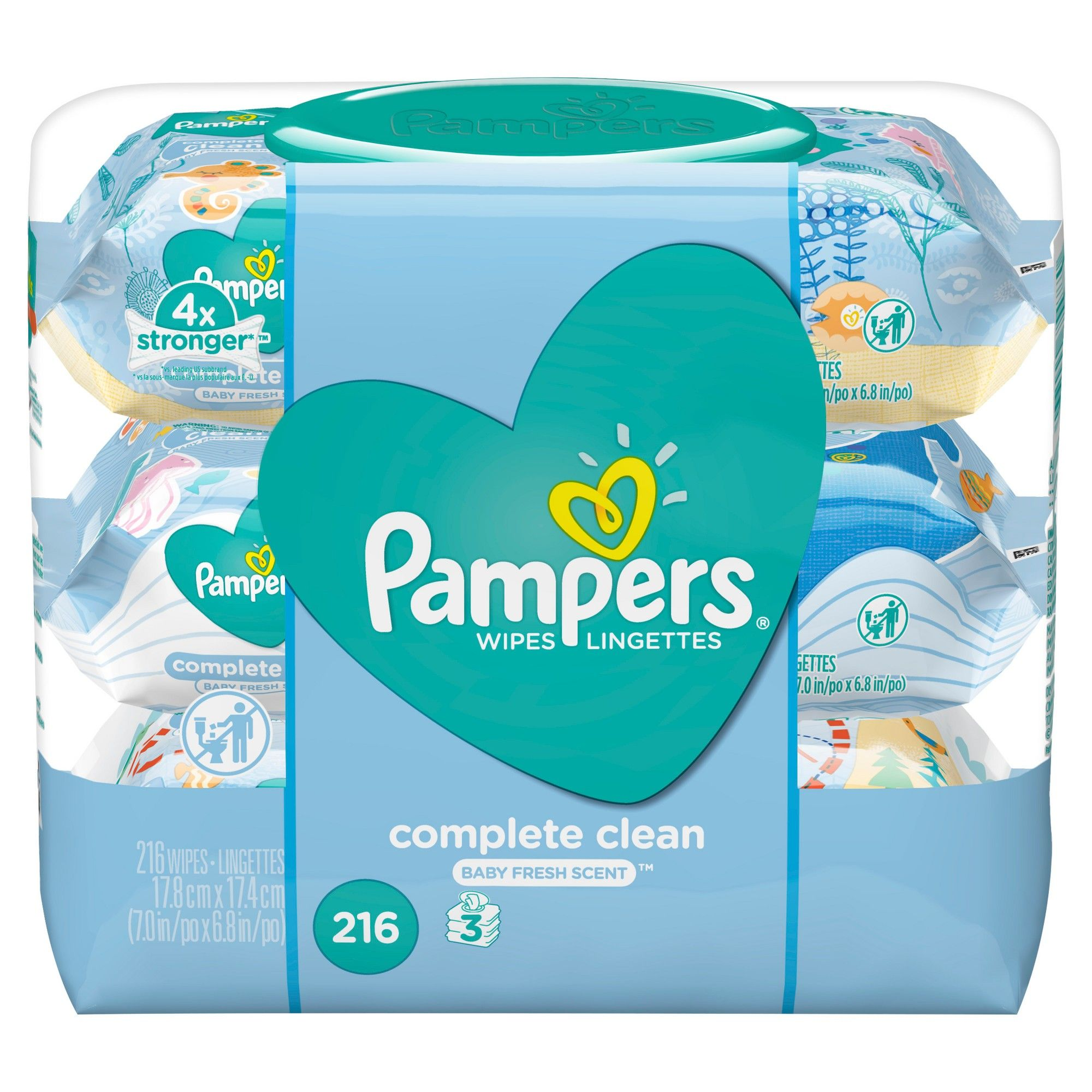 Pampers Wipes Complete Clean 216ct Moda De Bebes Nina