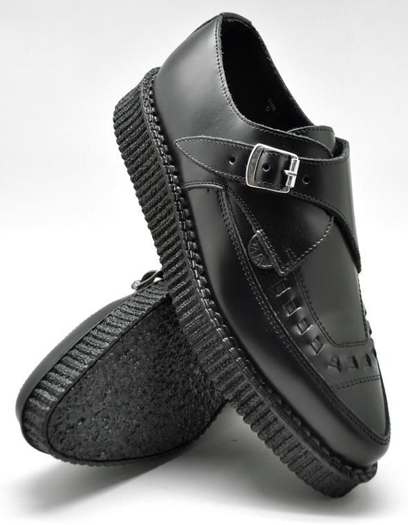 390d5f2f23 Creepers Underground Apollo Black box leather