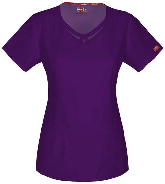 Women's Everyday Scrubs Round Neck Top