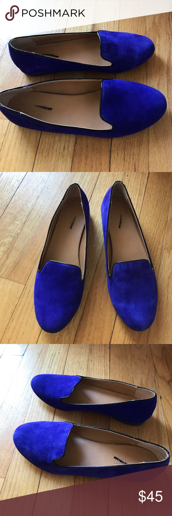 J Crew Cora royal blue/purple suede loafers 8 Gently worn a couple of times. Very little sign of wear. Label is marked to prevent store returns. J. Crew Shoes