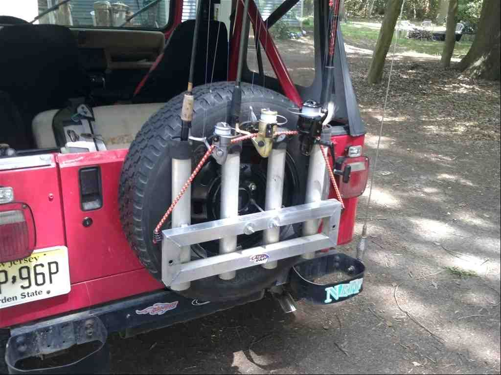 Jeep Fishing Rod Holder Fishingrodholders Fishing Pole Holder