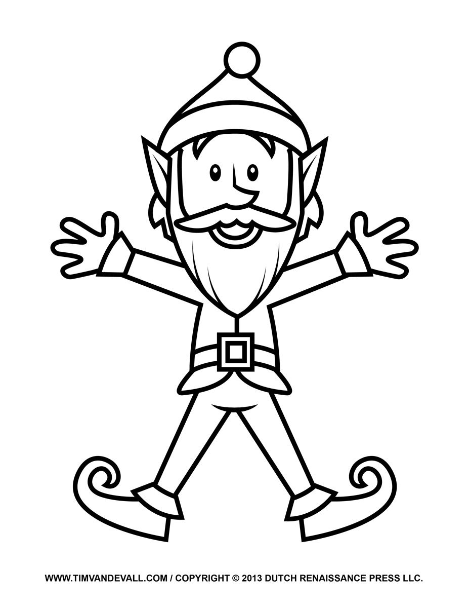 Elf-Coloring-Page.jpg (927×1200) | Coloring ( праздники) | Pinterest