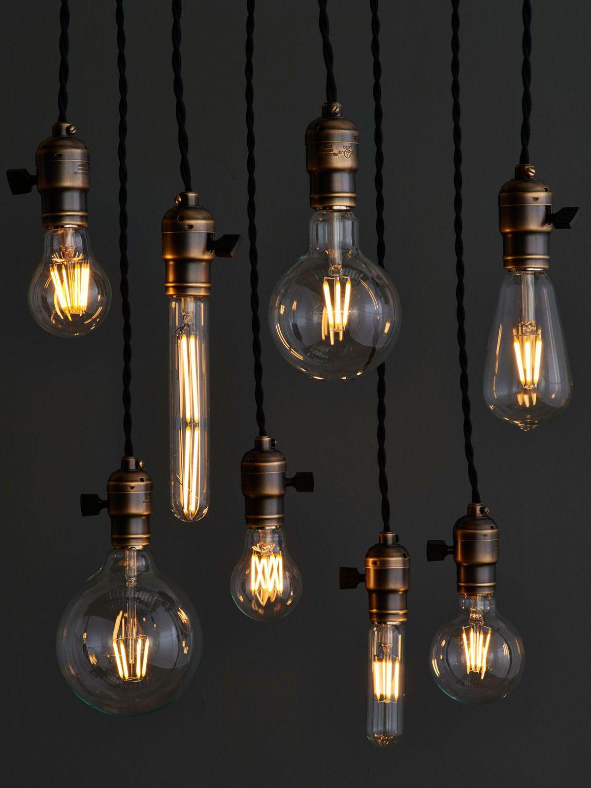 From Carbon To Led Filament Bulbs Vintage Light Bulbs Bare Bulb Lighting Led Light Installation