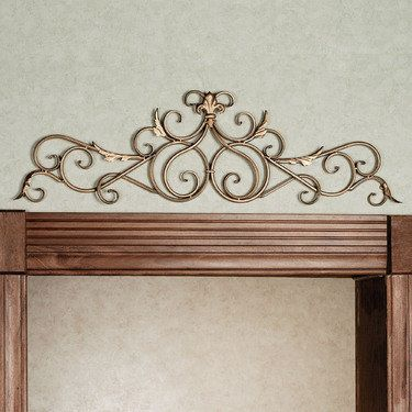 Salvatoria Scroll Topper 2 Colors 31 99 Touch Of Class Com Wrought Iron Wall Decor Iron Wall Decor Large Decor