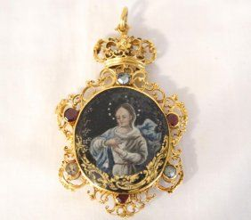 17th cent spanish 22kt gold reliquary pendant jewelry pinterest spanish 22kt gold reliquary pendant mozeypictures Images