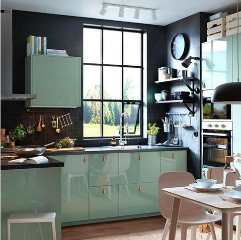 Couleur Cuisine Vert D Eau Ikea Le Blog Deco De Mlc Meuble Cuisine Cuisine Verte Cuisines Design