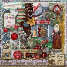 Ginger's Scraps N Pixels WOODLAND CHRISTMAS Daily Download kit http://www.godigitalscrapbooking.com/shop/index.php?main_page=index&manufacturers_id=134