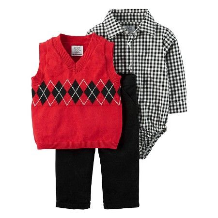Just One You Made By Carter S 174 Baby Boys Sweater Vest Set