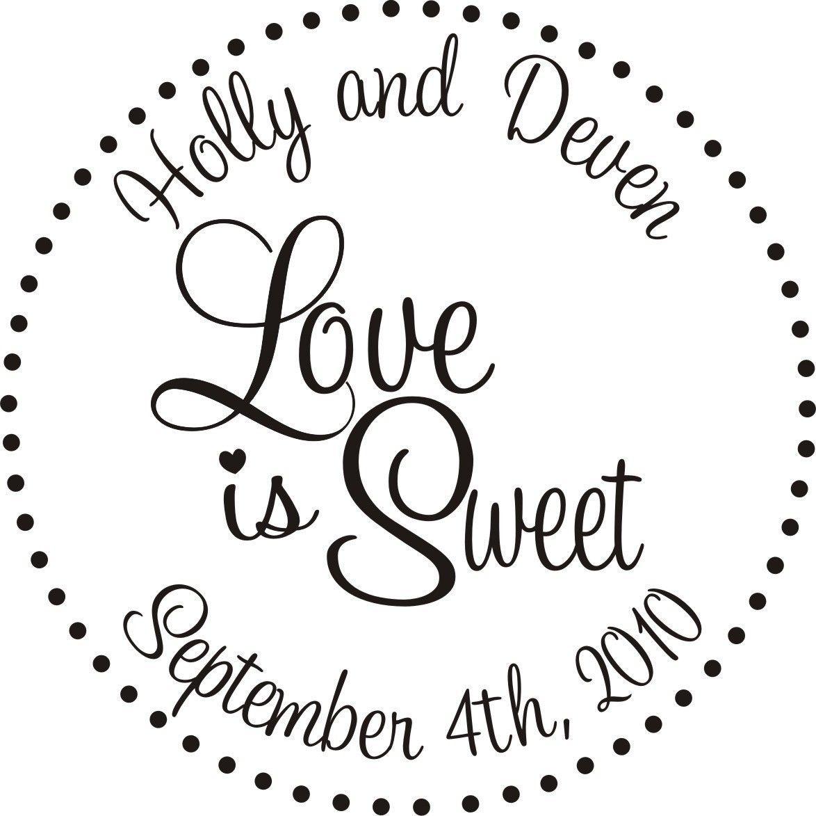 Self Inking Love is Sweet Wedding Candy Buffet Custom Stamp –5507 ...