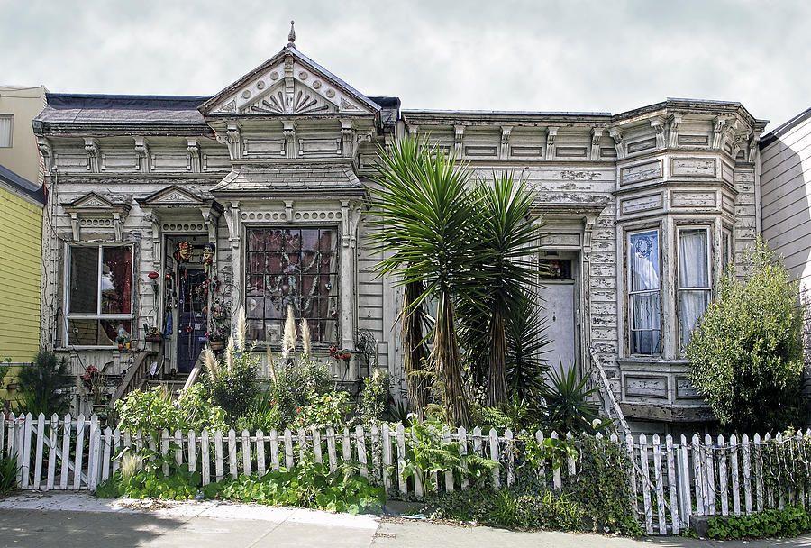Victorian Houses in California | Zombie Victorian Home - San Francisco California Photograph