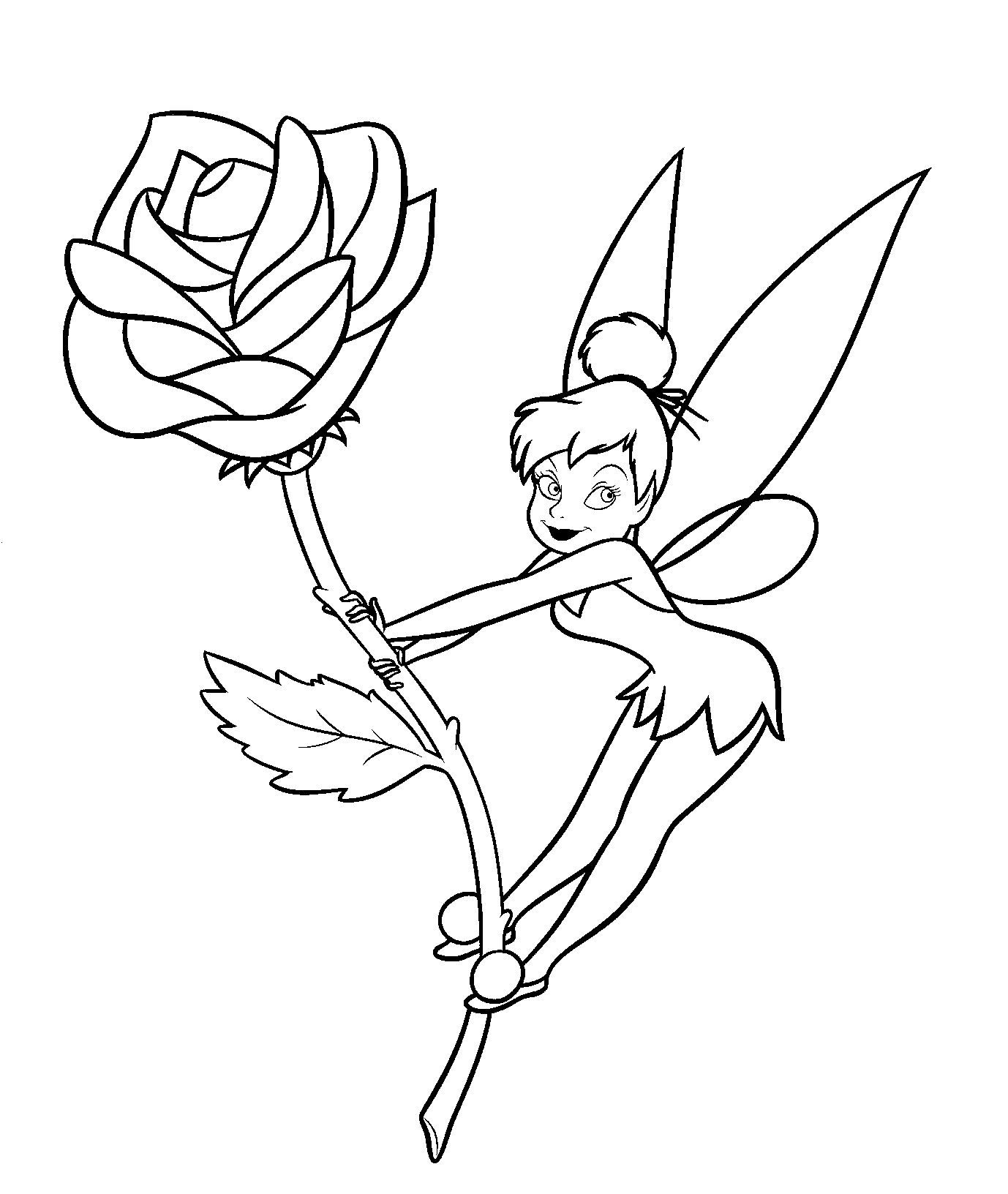 tinkerbell head coloring pages - photo#35