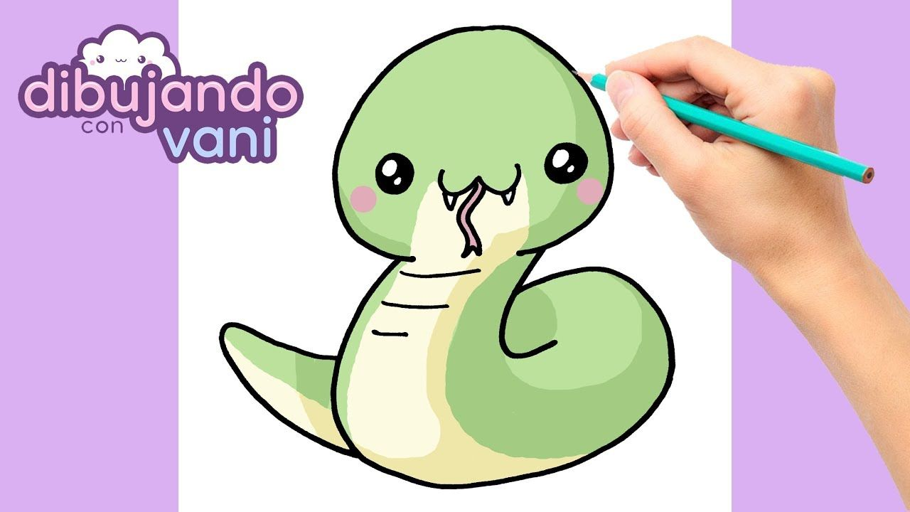 Como Dibujar Serpiente Kawaii Dibujos Imagenes Faciles Anime Para Colo Dibujos Kawaii Dibujo De Serpiente Kawaii