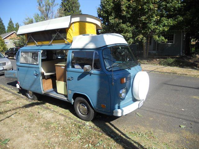 1974 Vw Riviera Camper For Sale Oldbug Com Vw Bus Bus Camper Vw Bus Camper