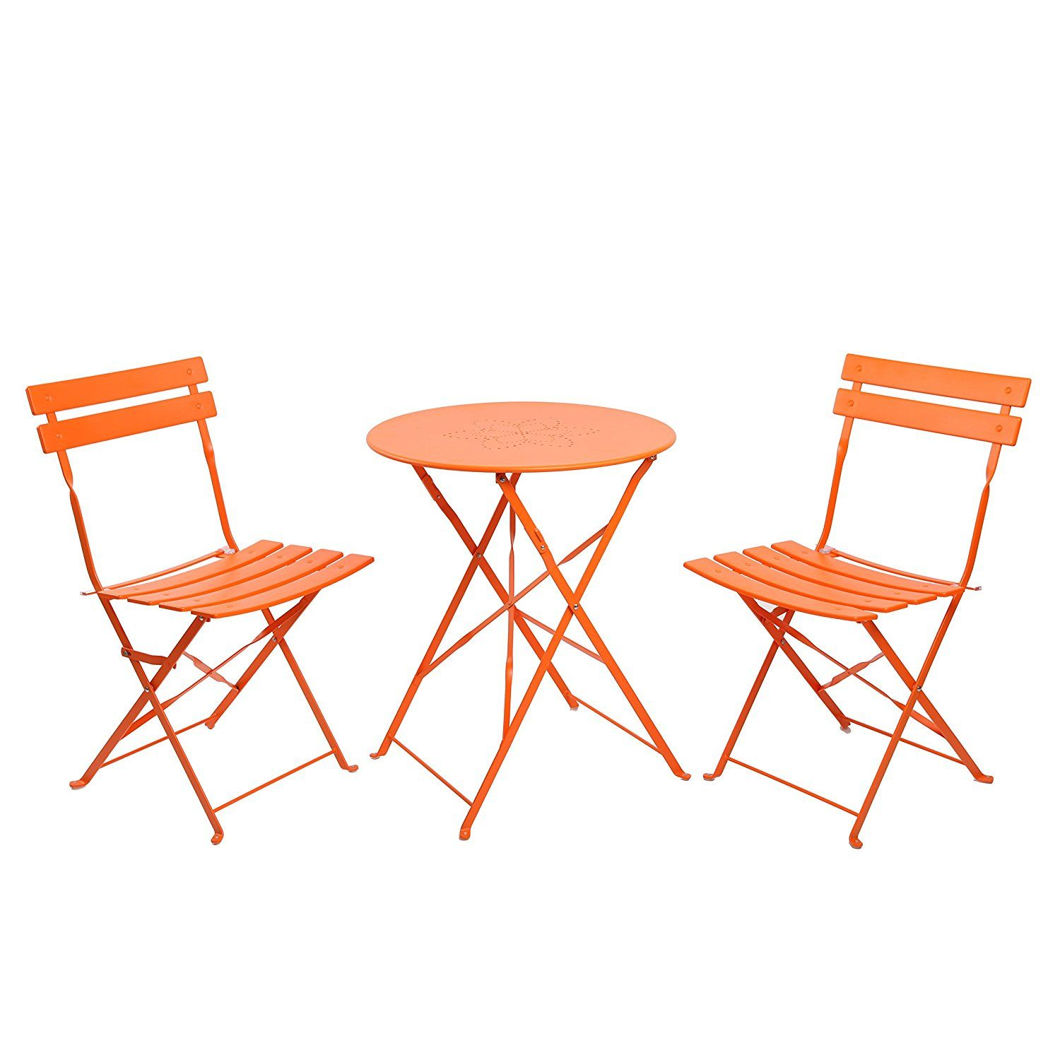Swell Amazon Com Finnhomy 3 Piece Steel Folding Table And Chair Andrewgaddart Wooden Chair Designs For Living Room Andrewgaddartcom