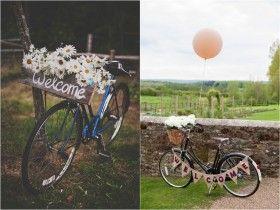 Decoração de Casamento Rústico - Bicicleta | blogdamariafernanda.com