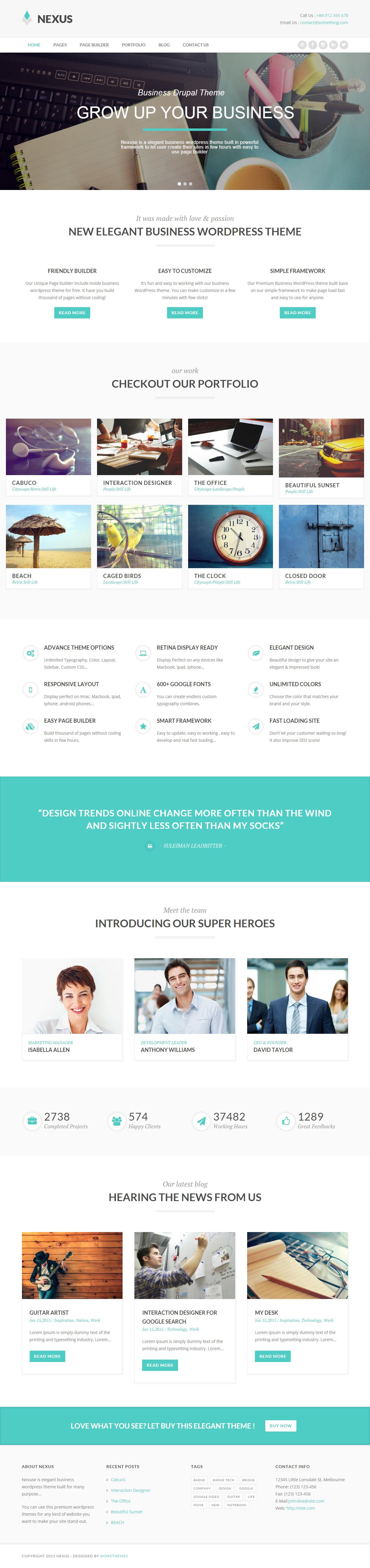 Nexus Premium Responsive Elegant Business Drupal Theme Drupal Nexus Theme