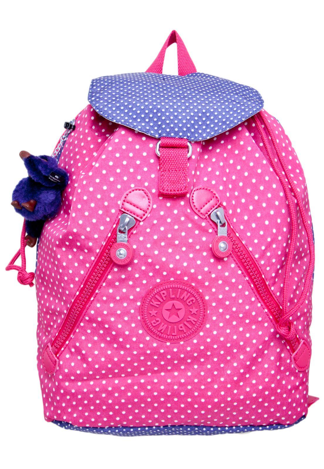 Bolsa Escolar Feminina Infantil : Mochila kipling rosa material escolar bolsinhas e mochilas