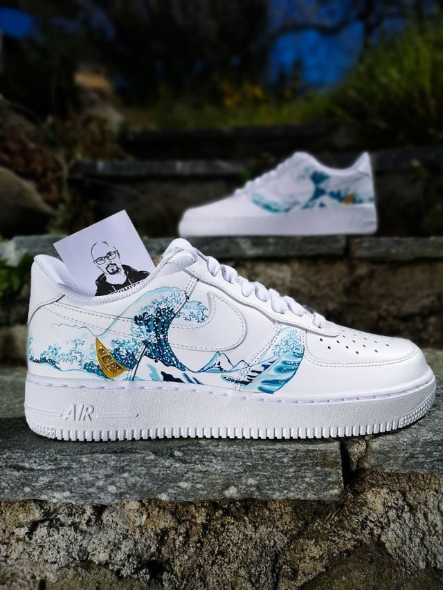 Nike Air Force 1 'The Great Wave off Kanagawa' THE