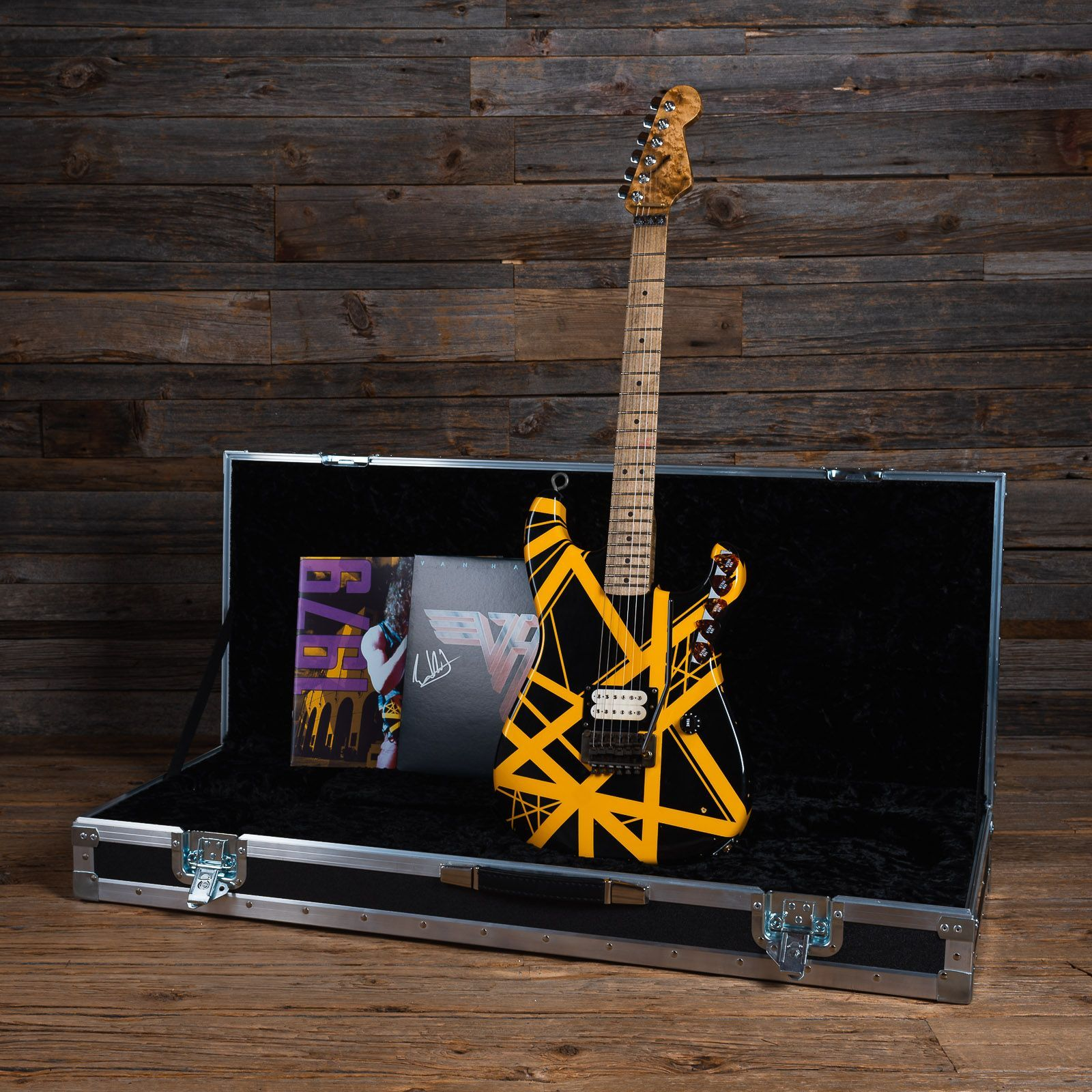 We Can T Keep Our Eyes Off This Evh Limited Edition Bumblebee Tribute Relic Signed By Eddie Himself This One Of A Kind Gui Tribute Bumble Bee Eddie Van Halen