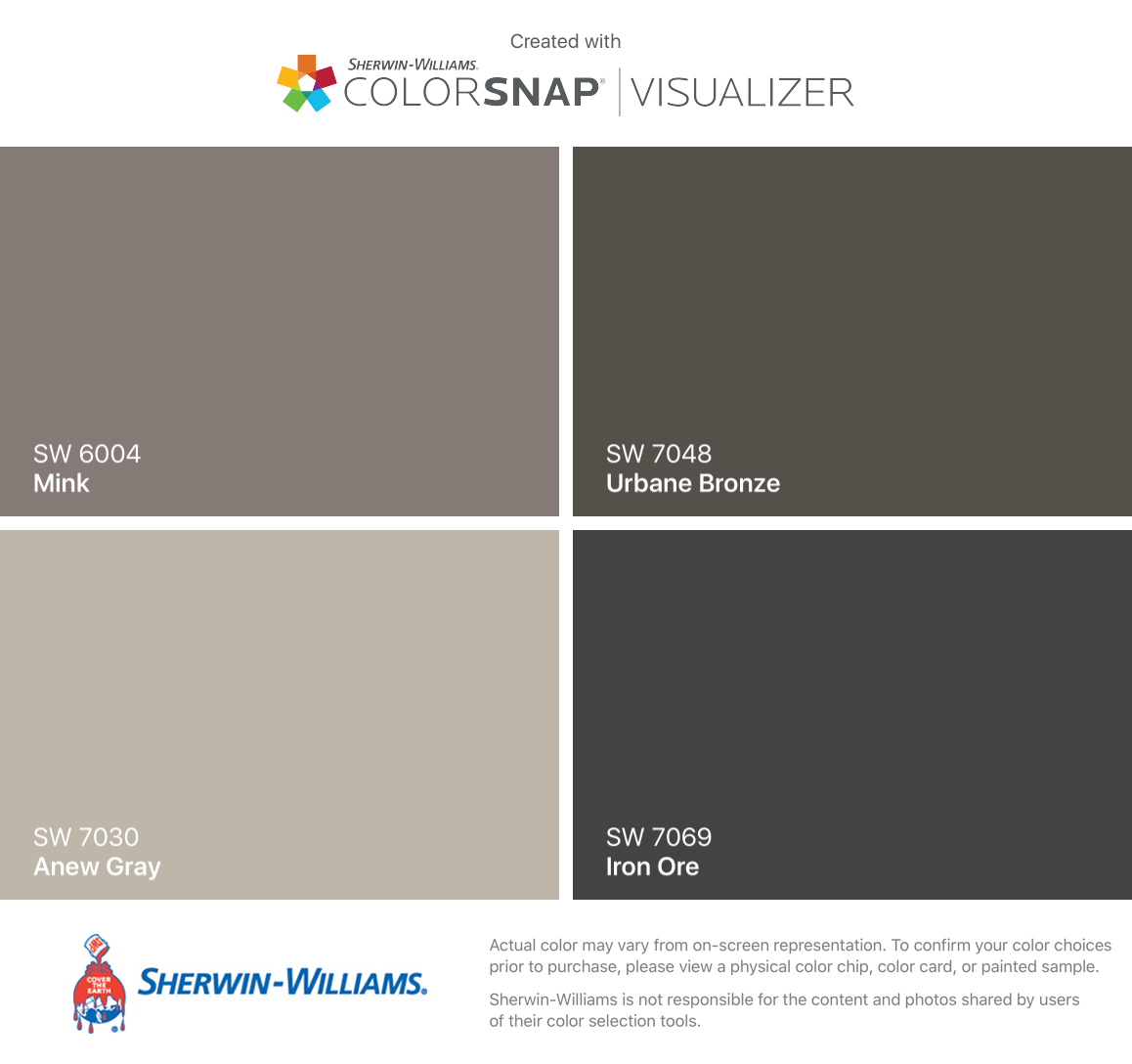 Gauntlet Gray Sherwin Williams I Found These Colors With Colorsnap 174 Visualizer For Iphone