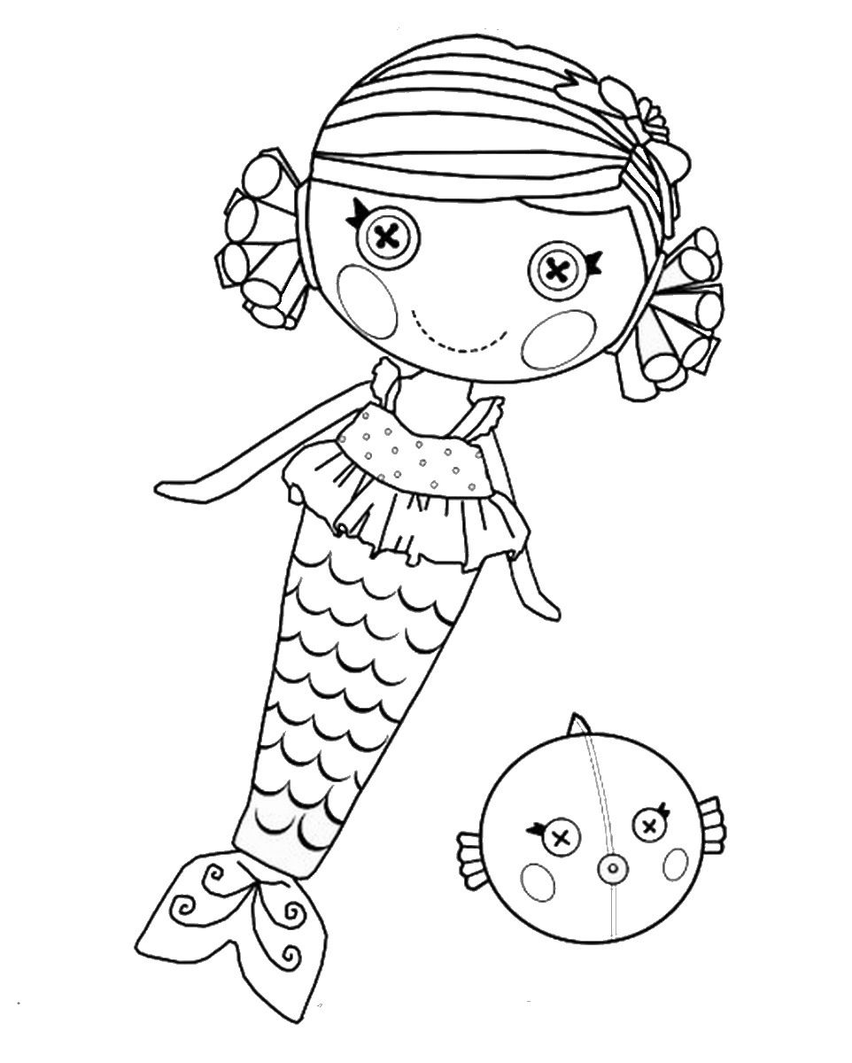 Lalaloopsy Coloring Pages | Mermaid coloring pages, Mermaid ...