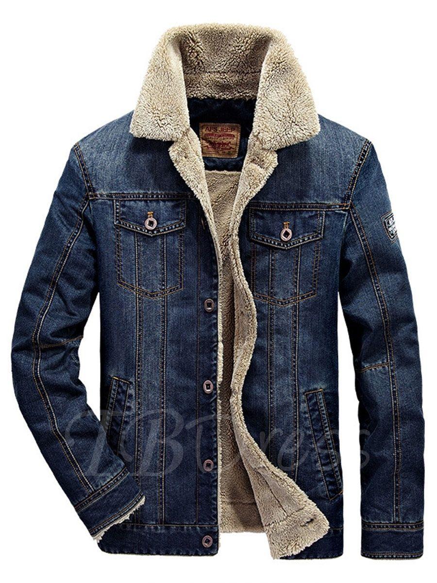 Shearling Lapel Thicken Warm Slim Men S Denim Jacket Denim Jacket Men Denim Jacket Fashion Jean Jacket Men [ 1200 x 900 Pixel ]