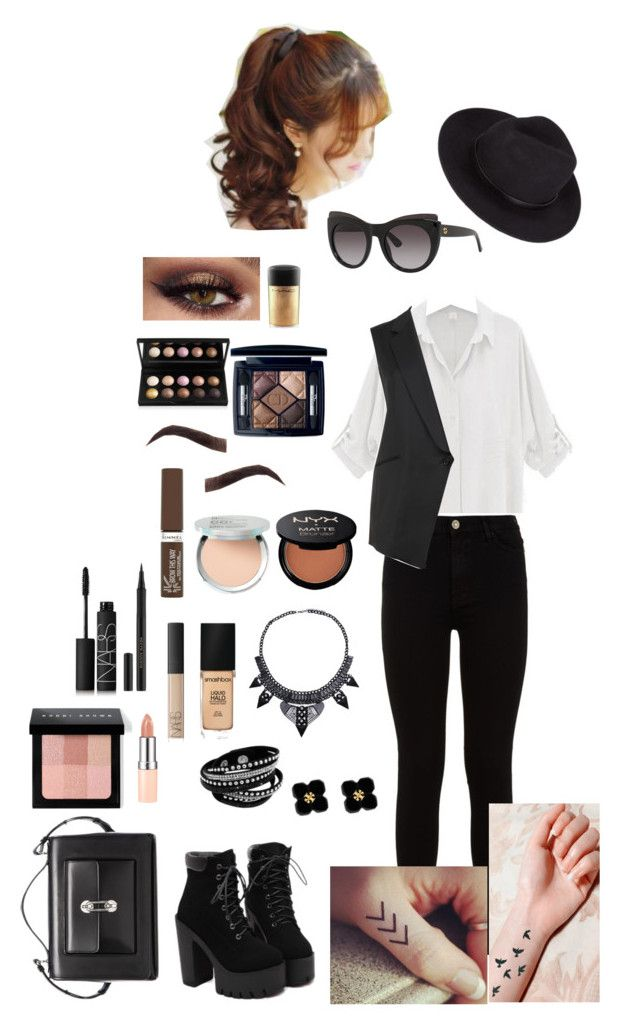 """""""TOP SECRET MEETING"""" by sprinkleofenchantment ❤ liked on Polyvore featuring moda, 7 For All Mankind, Gucci, Balenciaga, Tory Burch, Smashbox, NARS Cosmetics, Rimmel, Bobbi Brown Cosmetics e NYX"""
