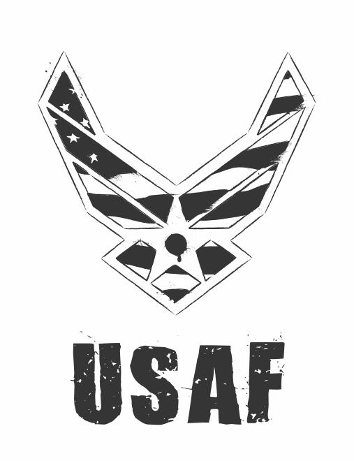 Usaf Logo Black And White By Fezbeast On Deviantart Usaf Star Wars Background United States Air Force