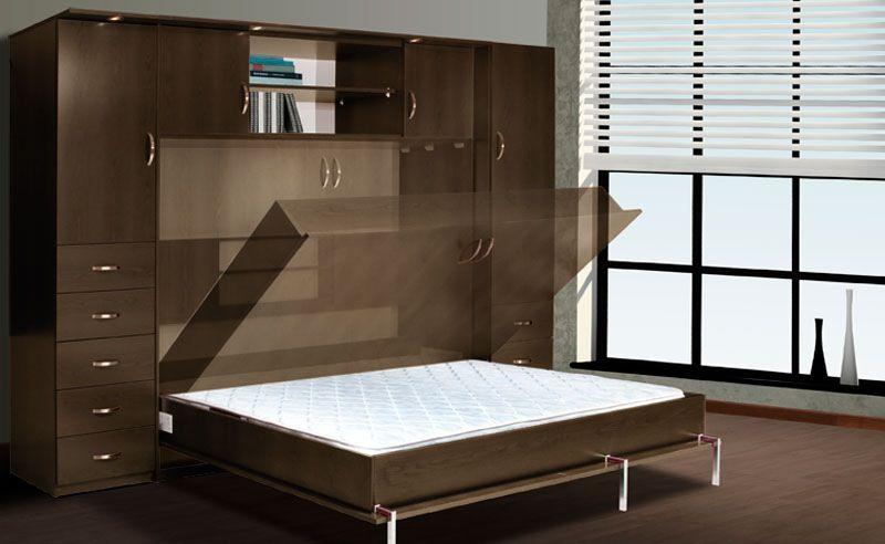Lit escamotable pour un coin bureau chambre d 39 invit e - Charniere pour lit escamotable ...