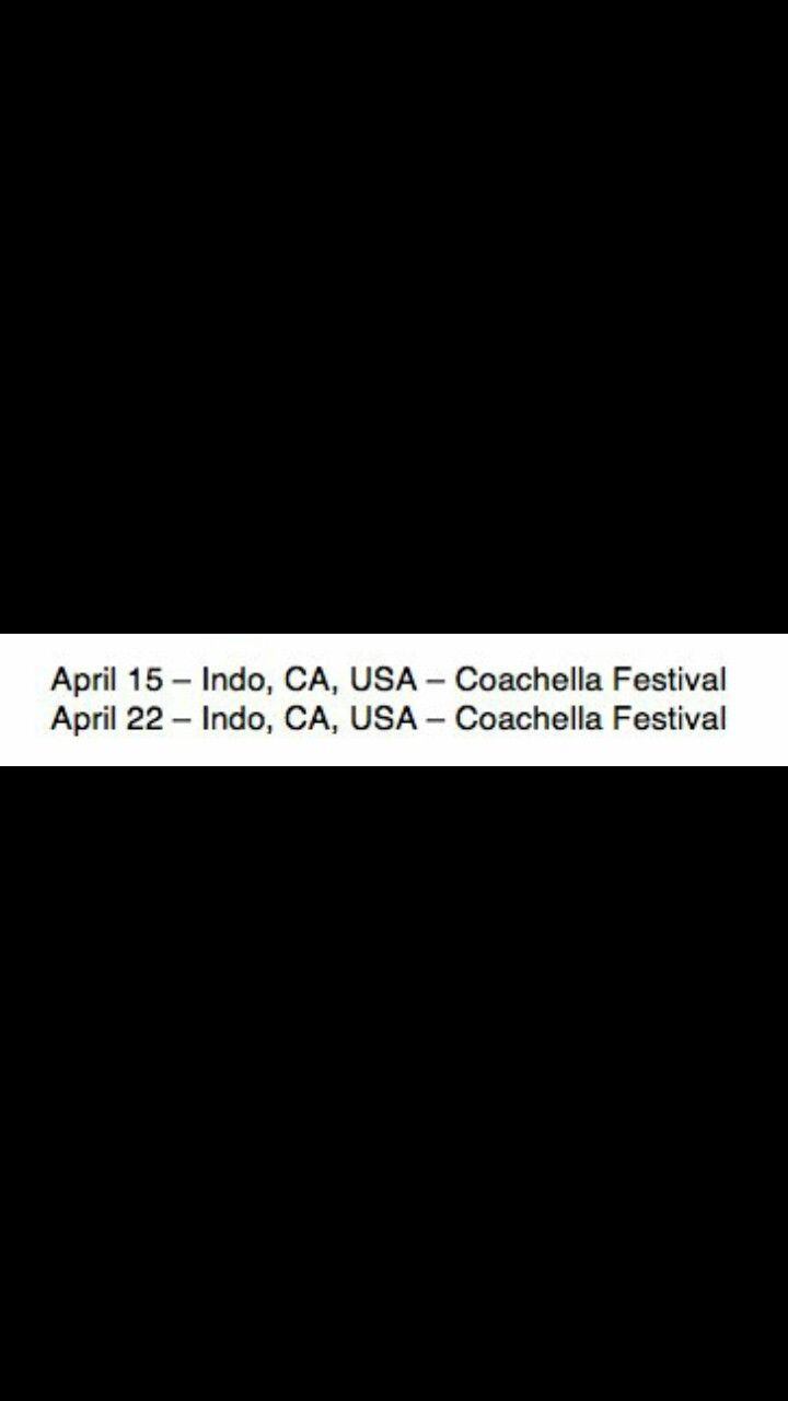 Beyoncé TWENTYSEVENTEEN World Tour 2017 Coachella 15th April and 22nd April