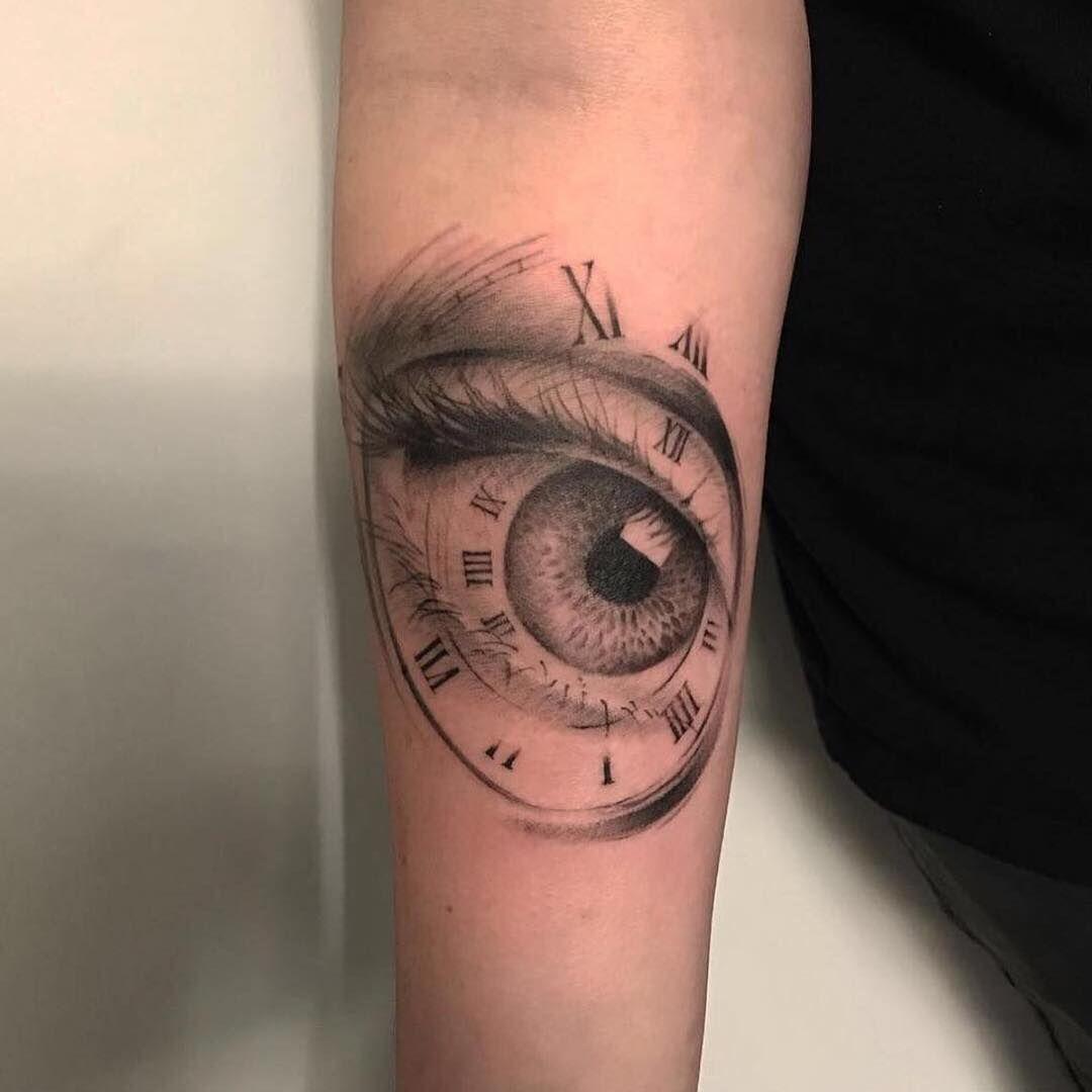 46+ Stunning Time clock hand tattoo ideas