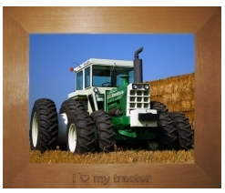 I Love My Tractor Picture Frame 8x10 Frame Is Sized To Fit An