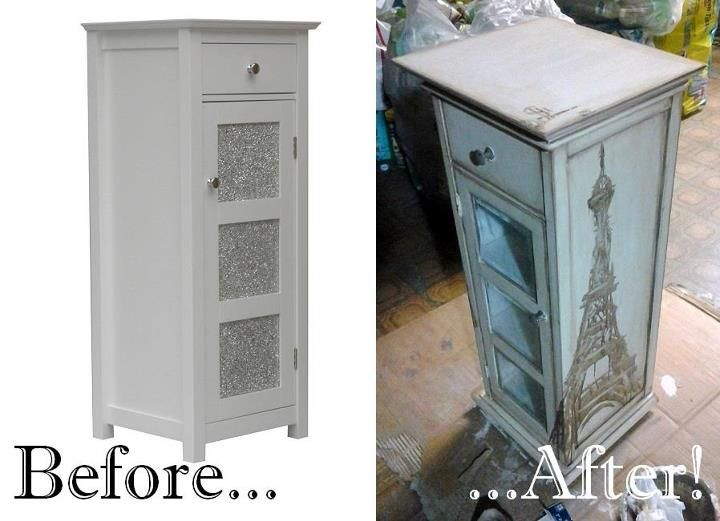 upcycling old furniture with acrylic paint and paint sealer.