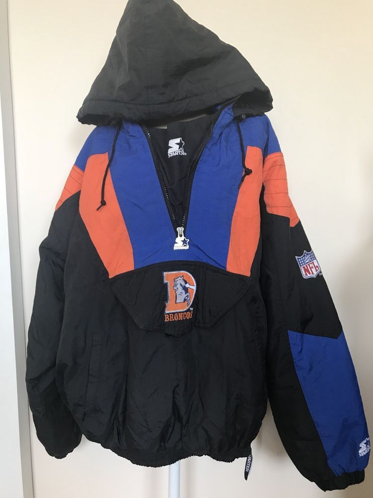Vintage Denver Broncos Starter Pro Line NFL Football Puffy Jacket Sz ... 721d866c7