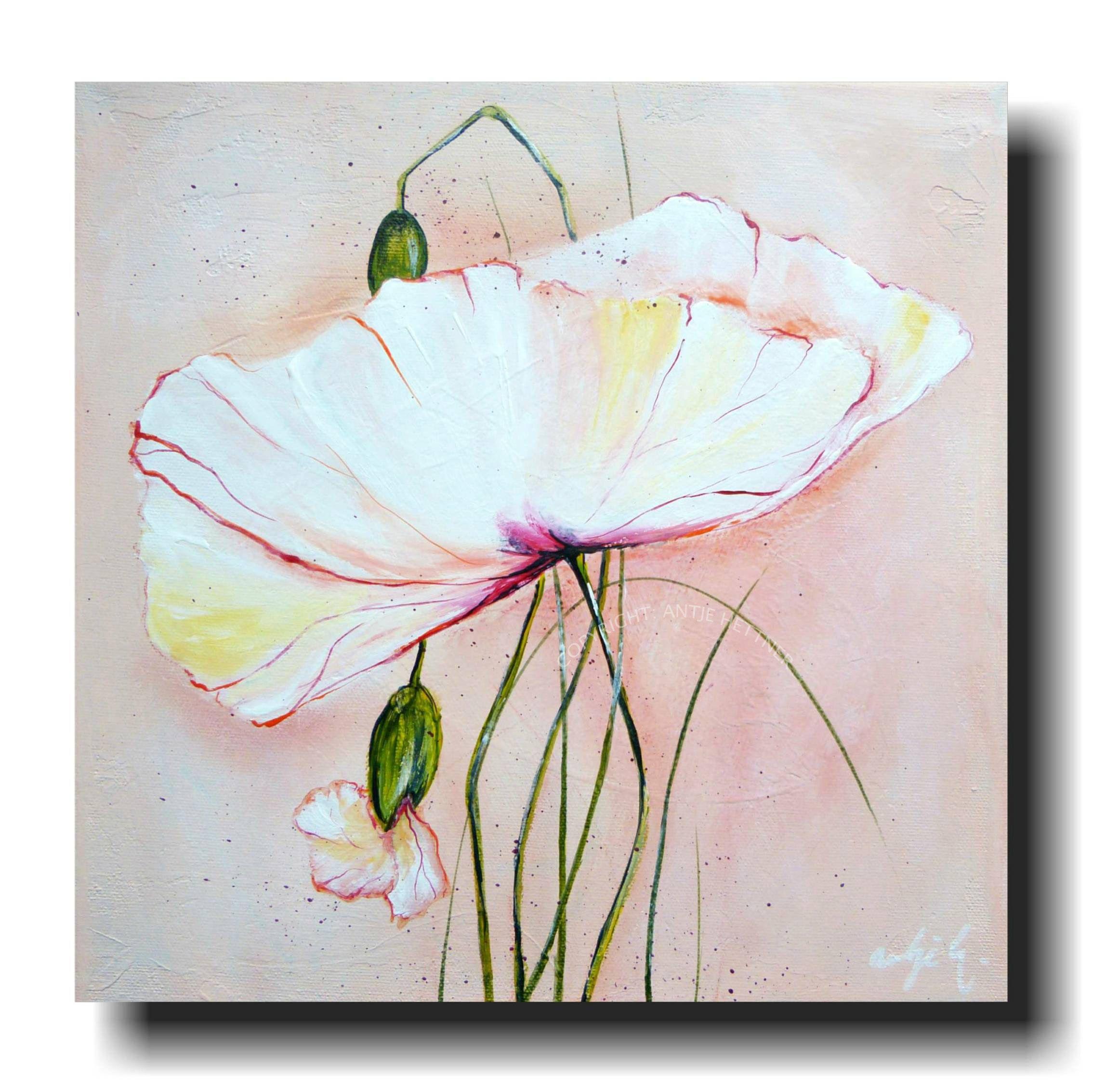 Acrylmalerei Kornblumen Kunst Malerei Bild Gemalde Blumen