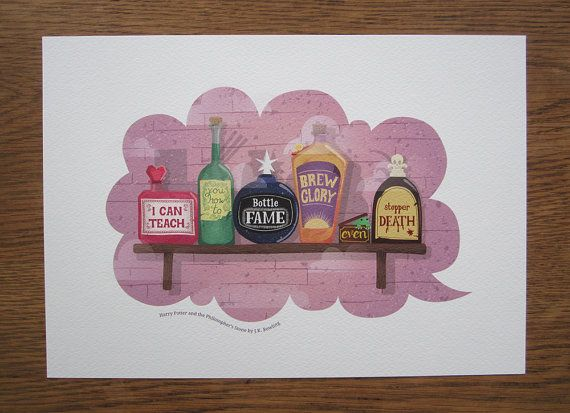 A4 Famous Book Quotes Prints  Harry Potter by Nafftastic on Etsy, £8.00