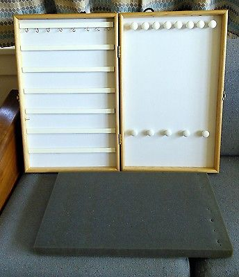 Showcases To Go Portable Jewelry Display Case Wood Used A