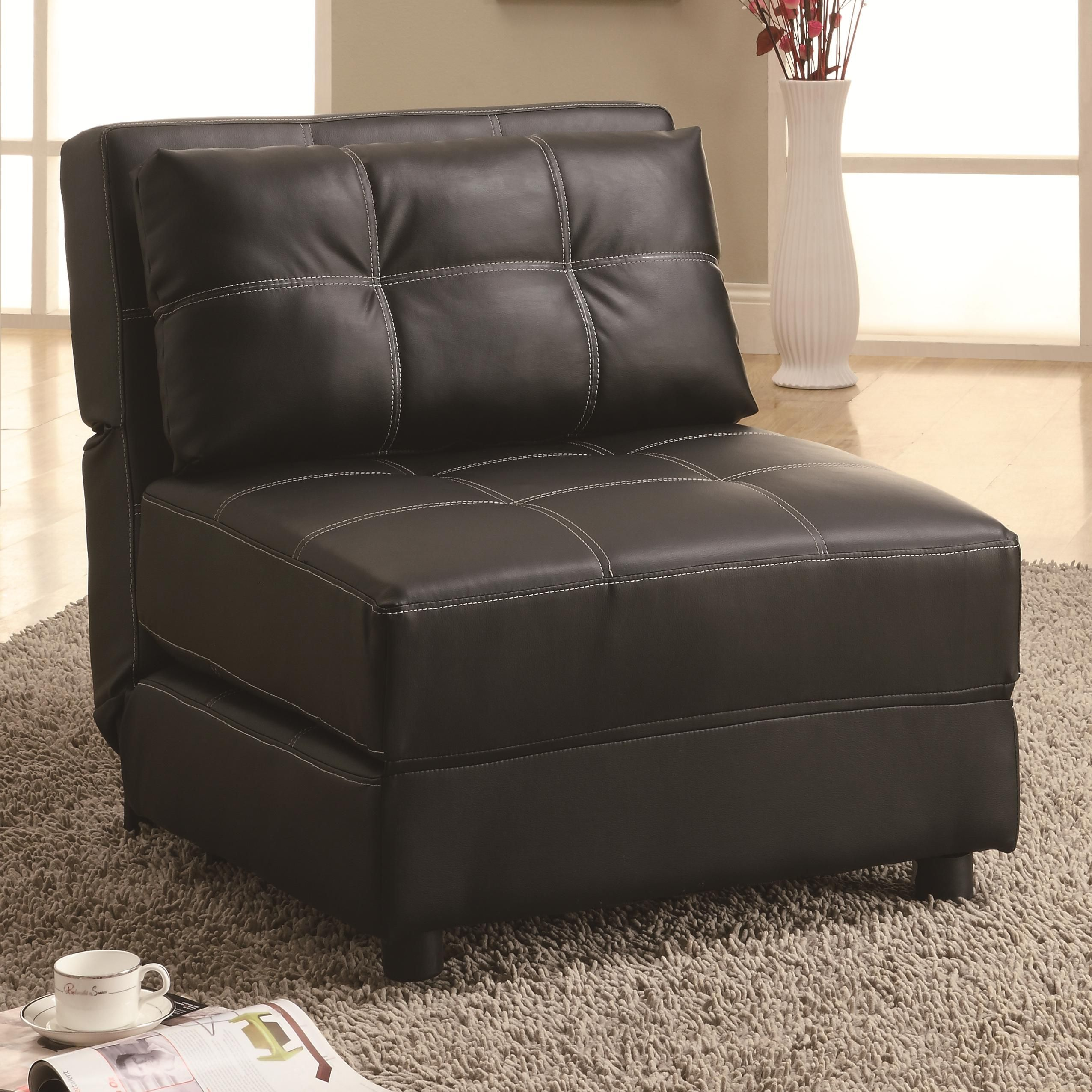 Accent Seating Contemporary Armless Lounge Chair/Sofa Bed