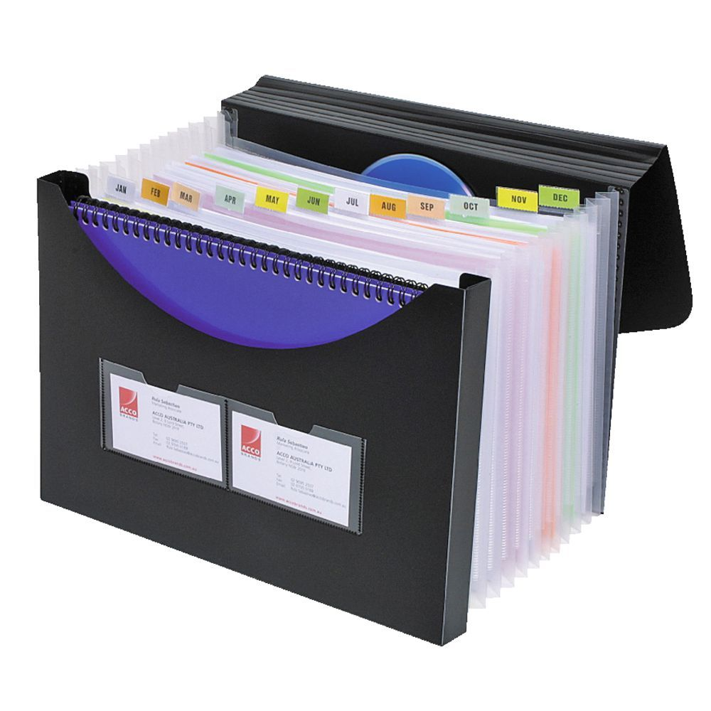 Marbig Expanding File Storage Box Black | Officeworks | Business ...