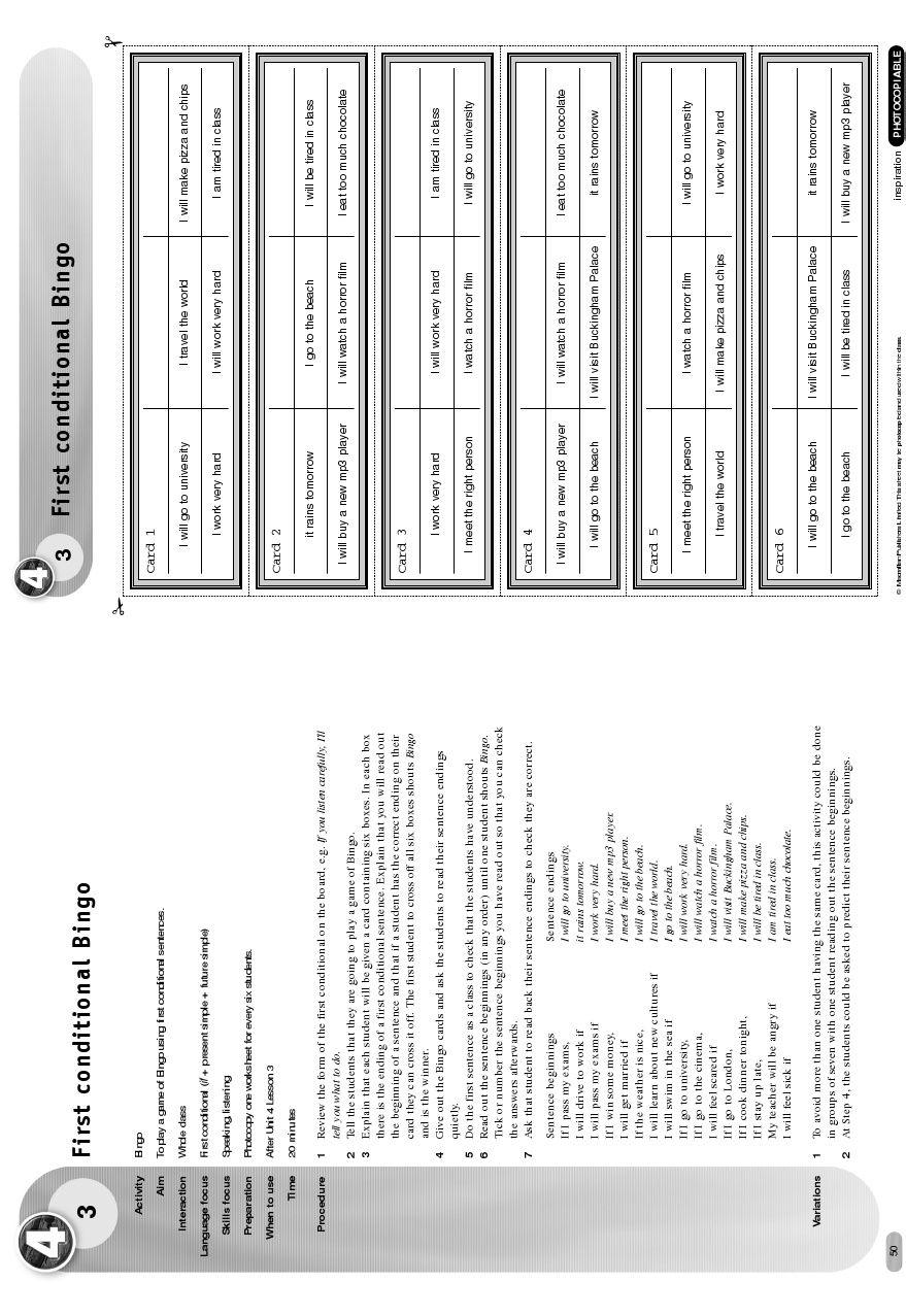 First Conditional Warming Activity Unit 8 Bingo English Lessons Activities Bingo [ 1277 x 879 Pixel ]