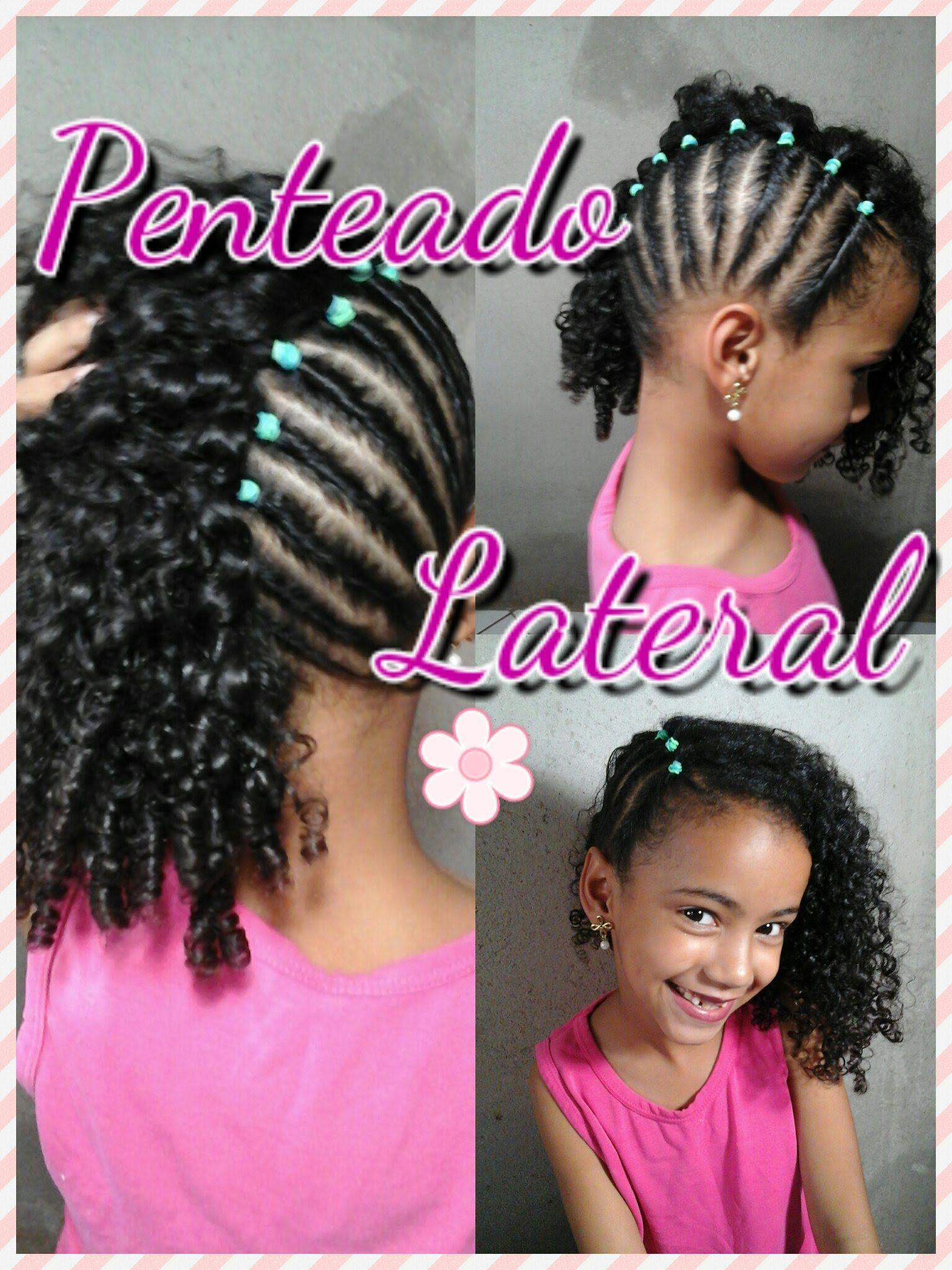 Penteado Lateral Para Cabelos Cacheados Infantil Cabelos