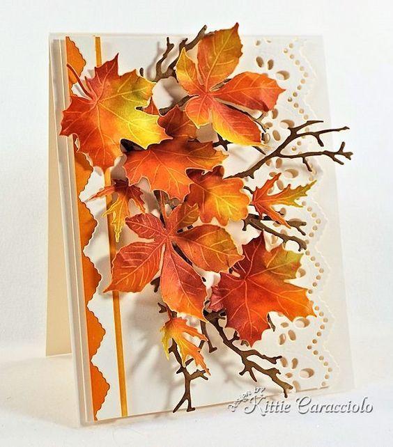 представлены открытки с осенними листьями скрапбукинг одной инновацией американки