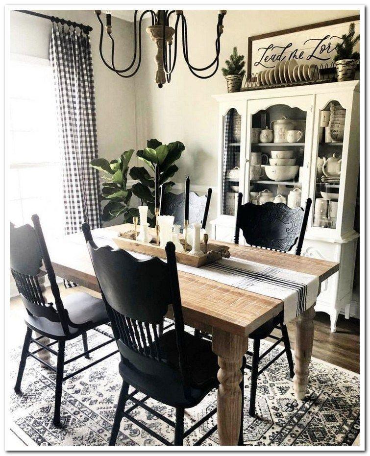46 this livingroom and dining room decor is farmhouse goals! 42 #farmhousediningroom