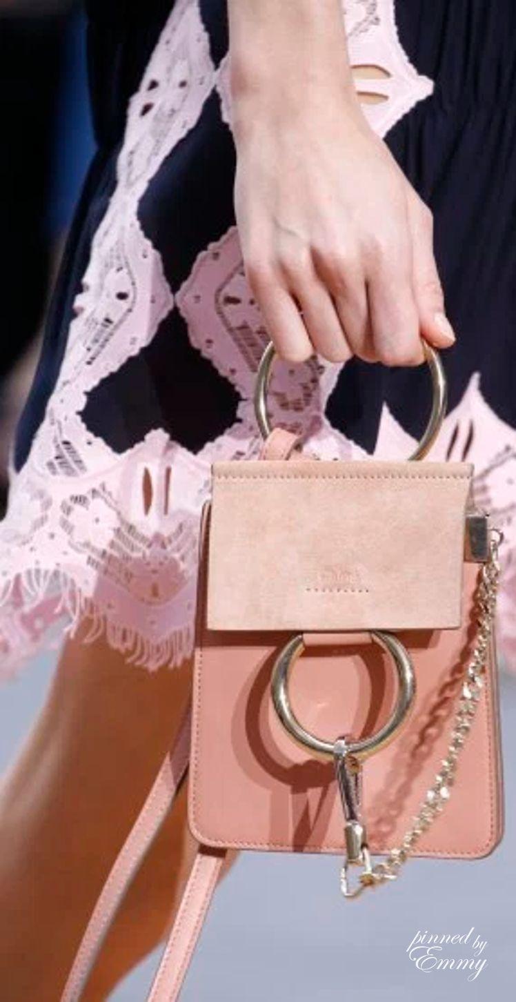 Chloé Nano Faye  bag  pink ddf35cb3297d