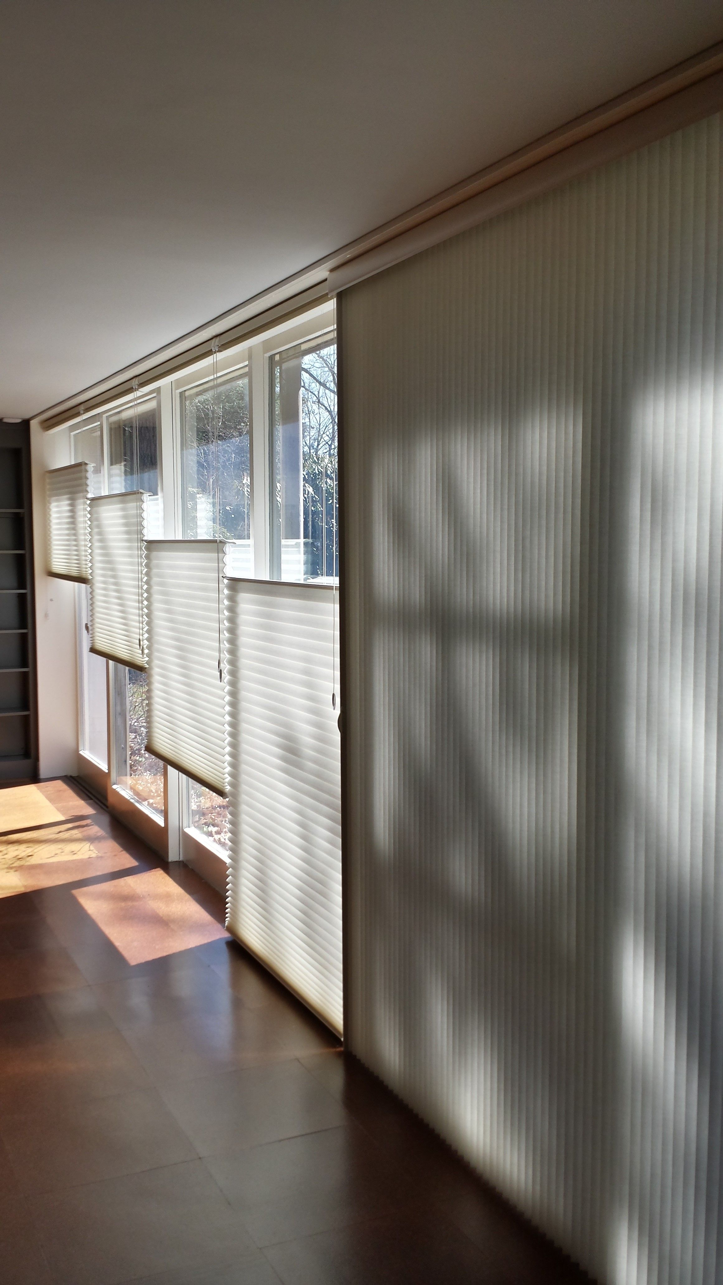 Hunter douglas shades top down bottom up and vertiglide for sliding