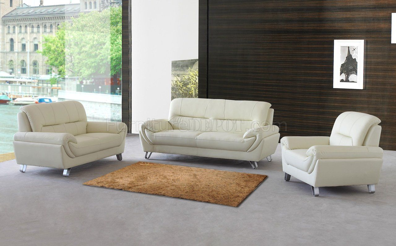 Sofa Mart  pc aura creampuff fabric upholstered sofa and love seat set with square arms