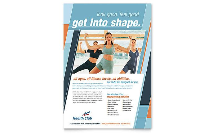 Fitness \/ Gym Flyer V1 - Flyers - 1 DESIGN Graphic Pinterest Gym - fitness flyer template